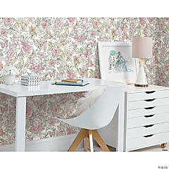Roommates Disney Princess Royal Floral Peel & Stick Wallpaper