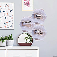 RoomMates Geode Dry Erase Hexagon Peel And Stick Wall Decals