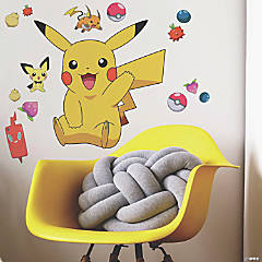 Roommates Pikachu Peel And Stick Giant Wall Decals