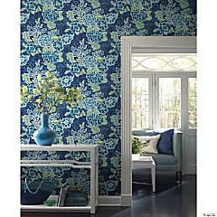 Roommates Zen Garden Peel & Stick Wallpaper - Blue
