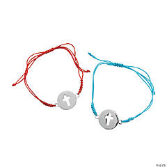 Rope Bracelets with Cross Charm