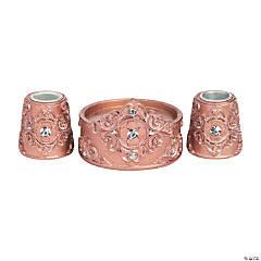 Rose Gold Candle Holder Set