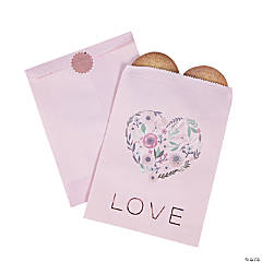 Rose Gold Floral Love Treat Bags