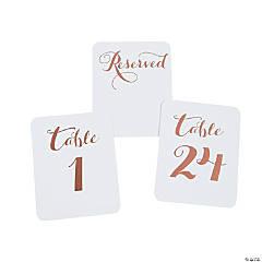 Rose Gold Foil Table Numbers