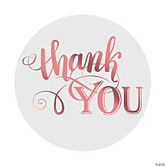 Rose Gold Foil Thank You Stickers