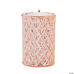 Rose Gold Geometric Candle Holders