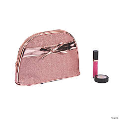 Rose Gold Glitter Makeup Bag