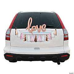 Rose Gold Love Wedding Car Parade Decorating Kit