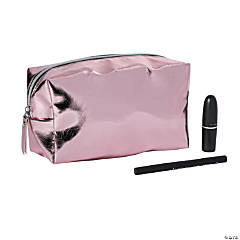 Rose Gold Metallic Makeup Bag