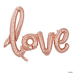 Rose Gold Mylar Love Balloon