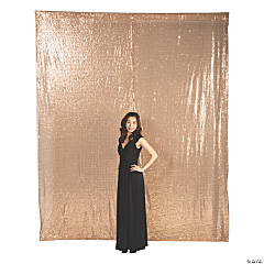 Rose Gold Sequin Backdrop