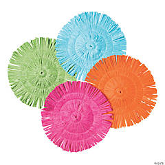 Round Fringe Bright Luau Placemats