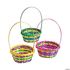 Round Multicolor Easter Baskets