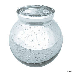 Round Silver Mercury Bud Vases