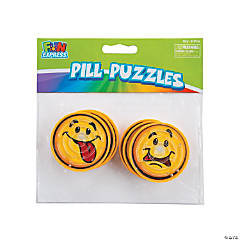 Round Smile Face Pill Puzzles