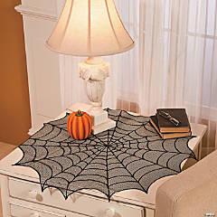 Round Spider Web Tabletopper Halloween Decoration