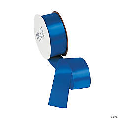 Royal Blue Single Faced Satin Ribbon - 1 1/2