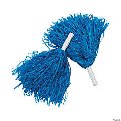 Royal Blue Team Spirit Cheer Pom-Poms - 12 Pc.