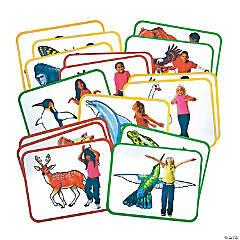 Roylco® Body Poetry: Animal Action Cards, 16/pkg