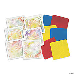 Roylco® Optical Illusion Rubbing Plates, 18 count