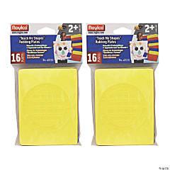 "Roylco® Teach Me Shapes Rubbing Plates, 4"" x 5.25"", 32 count"