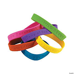 Rubber 100th Day of School Bracelets