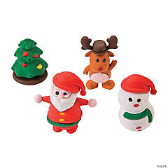Rubber 3D Christmas Character Erasers