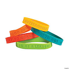 Rubber Award Sayings Bracelets