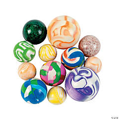 Rubber Bouncing Ball Assortment - 25 pcs.