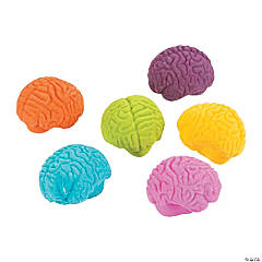 Rubber Brain-Shaped Erasers