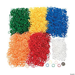 Rubber Bright Rainbow Fun Loop Mega Assortment Kit