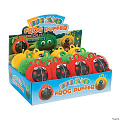 Rubber Bug And Frog Puffer Ball Assortment