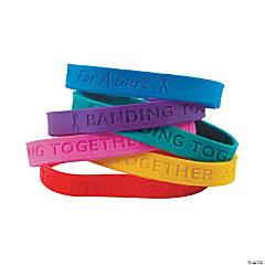 Rubber Cancer Awareness Bracelets