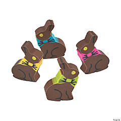 Rubber Chocolate Bunny Erasers