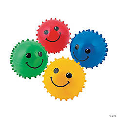 Rubber Colorful Smiling Spike Balls