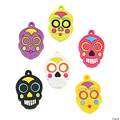 Rubber Day of the Dead Charms