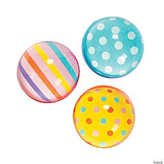 Rubber Dots & Stripes Bouncing Balls