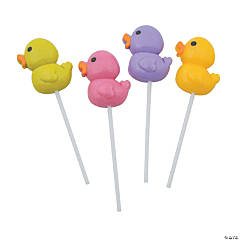 Rubber Ducky Frosted Lollipops
