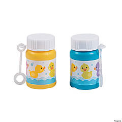 Rubber Ducky Mini Bubble Bottles