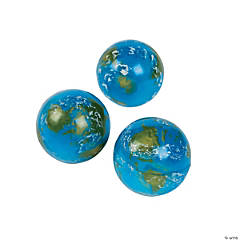 Rubber Earth Bouncing Balls