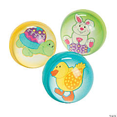 Rubber Easter Friends Bouncing Balls