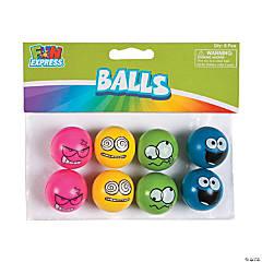 Rubber Emoji Bouncing Balls