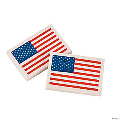 Rubber Flag Erasers