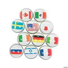 Rubber Flags Around the World Bouncing Balls