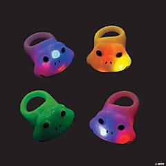 Rubber Frog Light-Up Rings