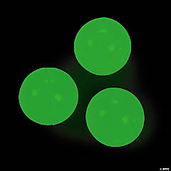 Rubber Glow-in-the-Dark Bouncing Balls