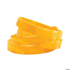 Rubber Gold Awareness Ribbon Camouflage Bracelets
