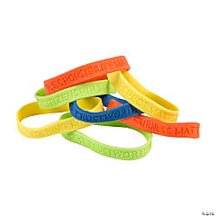 Rubber Good Character Bracelets