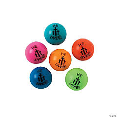 "Rubber ""He Lives!"" Bouncing Balls"