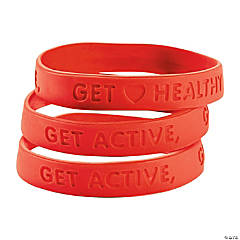 Rubber Heart Health Bracelets